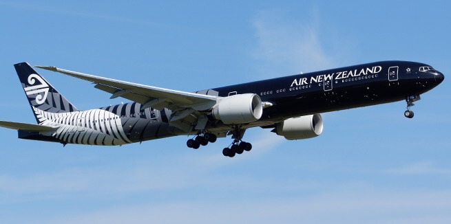 Fifth Freedom Flights : Air New Zealand(NZ)