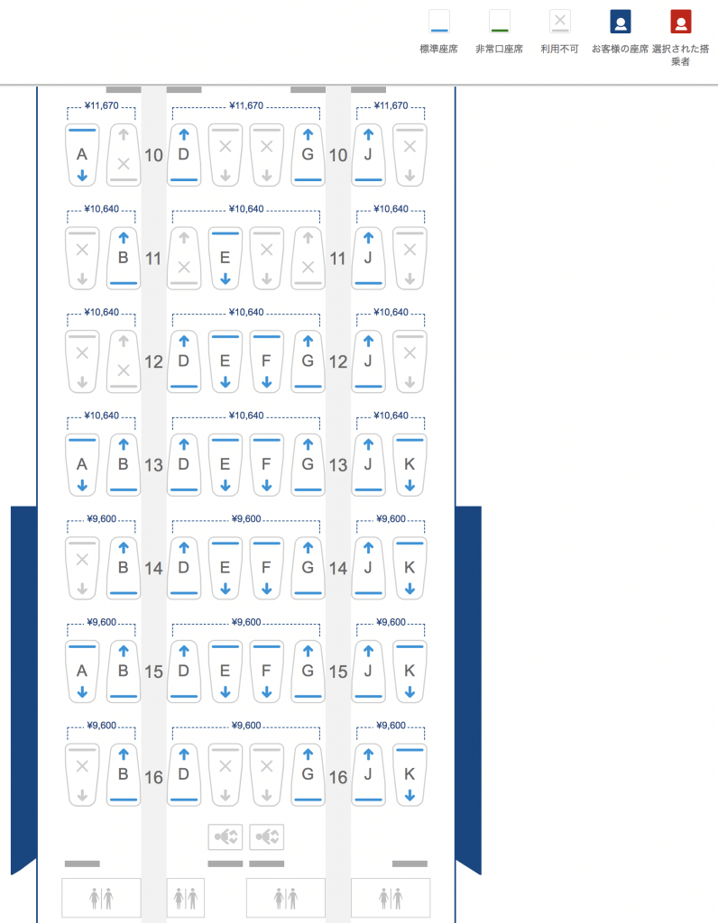 ブリティッシュ・エアウェイズ(BA)のAviosを使って座席指定ができます
