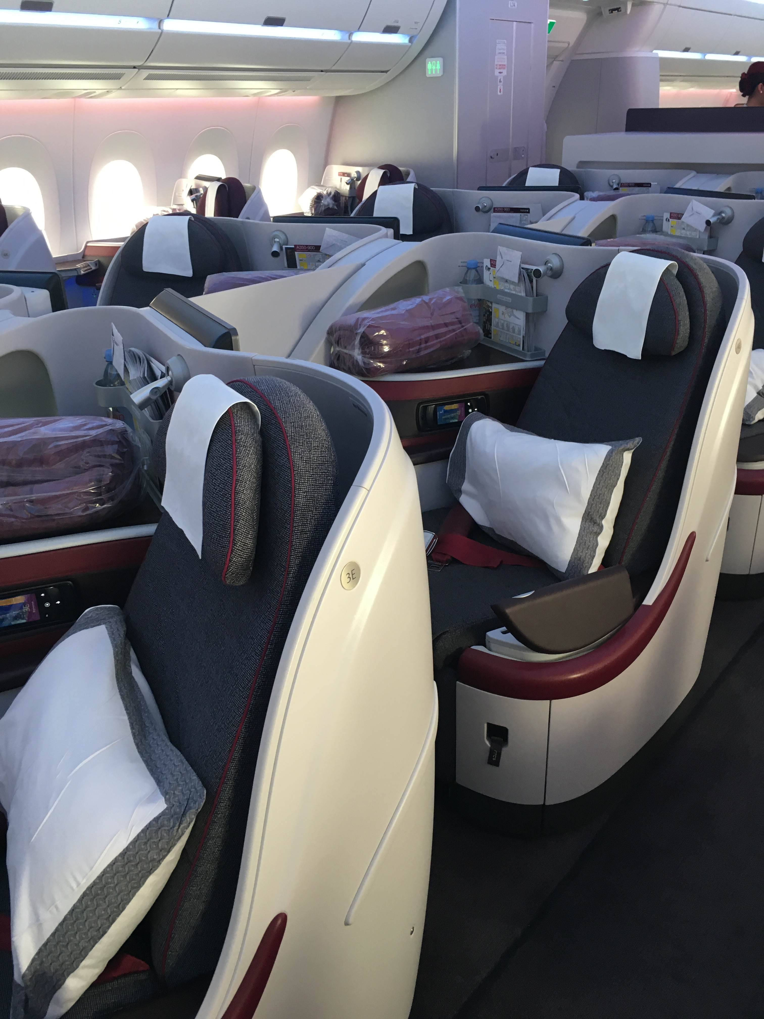Business Class Review : QR37(DOH – CDG) Airbus A350-900