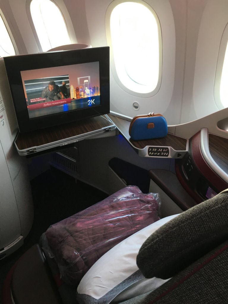 Business Class Review : QR54(NCE – DOH) Boeing B787-8