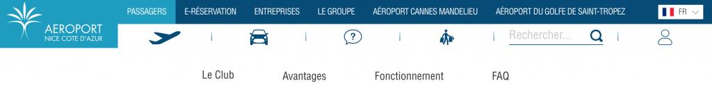 ニース空港(NCE)のポイントプログラム「Club Airport Premier」の登録方法