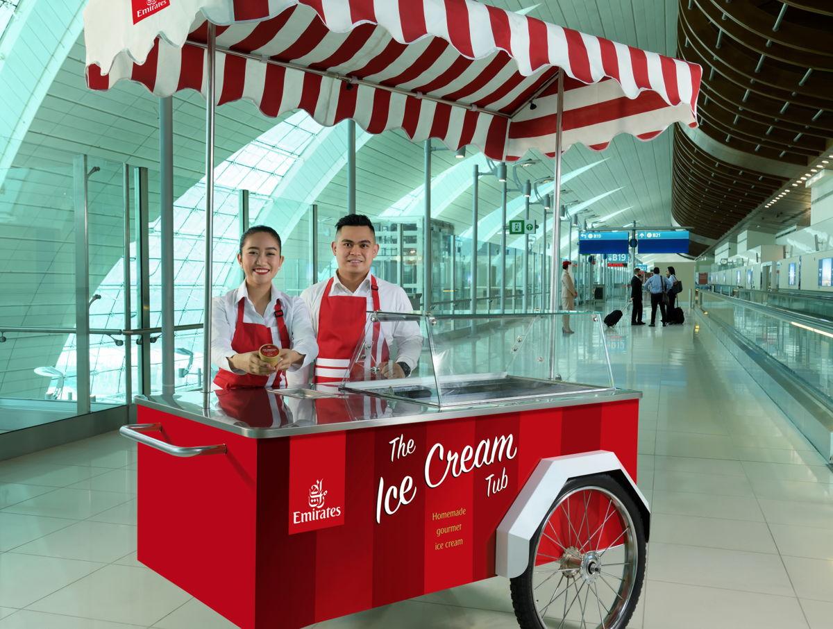 エミレーツ航空(EK)特製のアイスクリームはいかが?