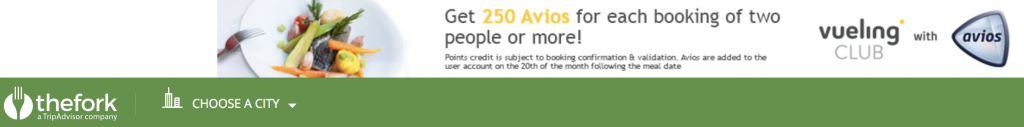 ヨーロッパのレストランの予約でAviosを手に入れよう