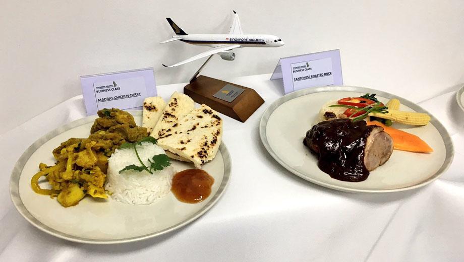 シンガポール航空(SQ)の新しいオーダー型機内食