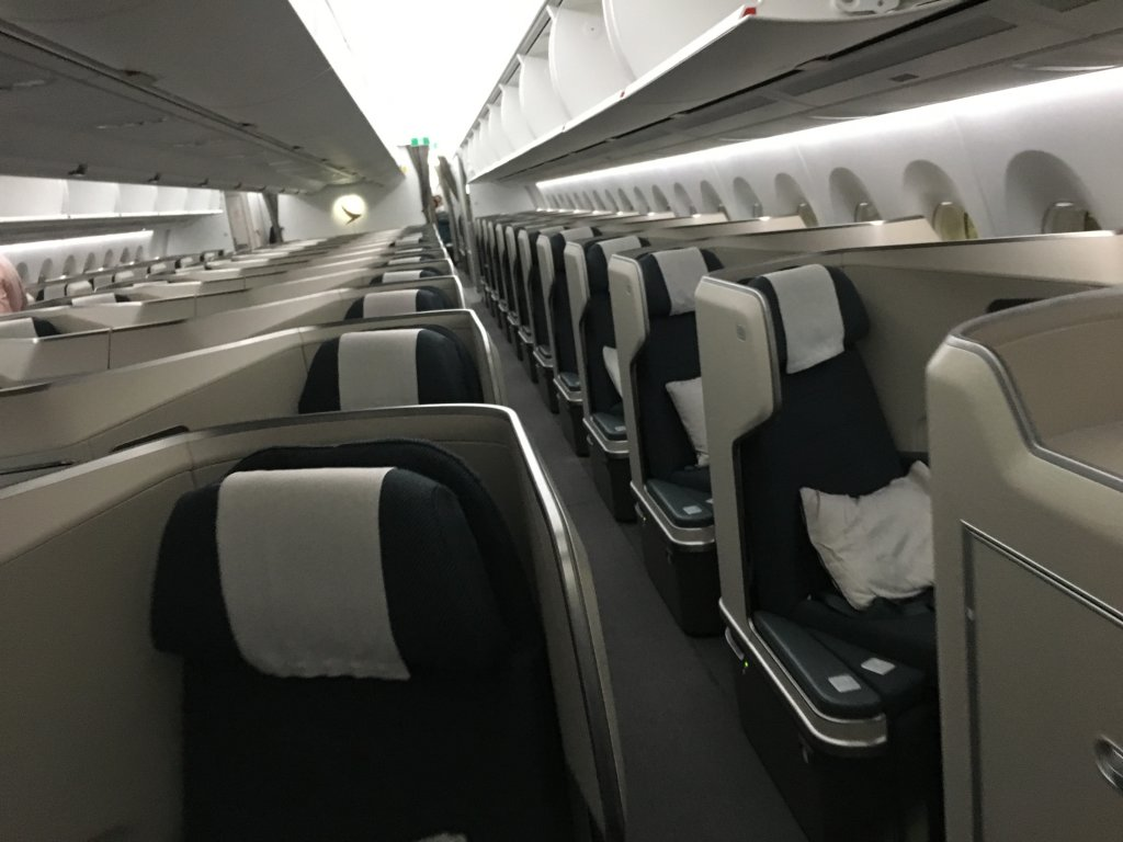 Business Class Review : キャセイパシフィック航空(CX) CX524  香港(HKG) – 成田(NRT) Airbus A350-1000