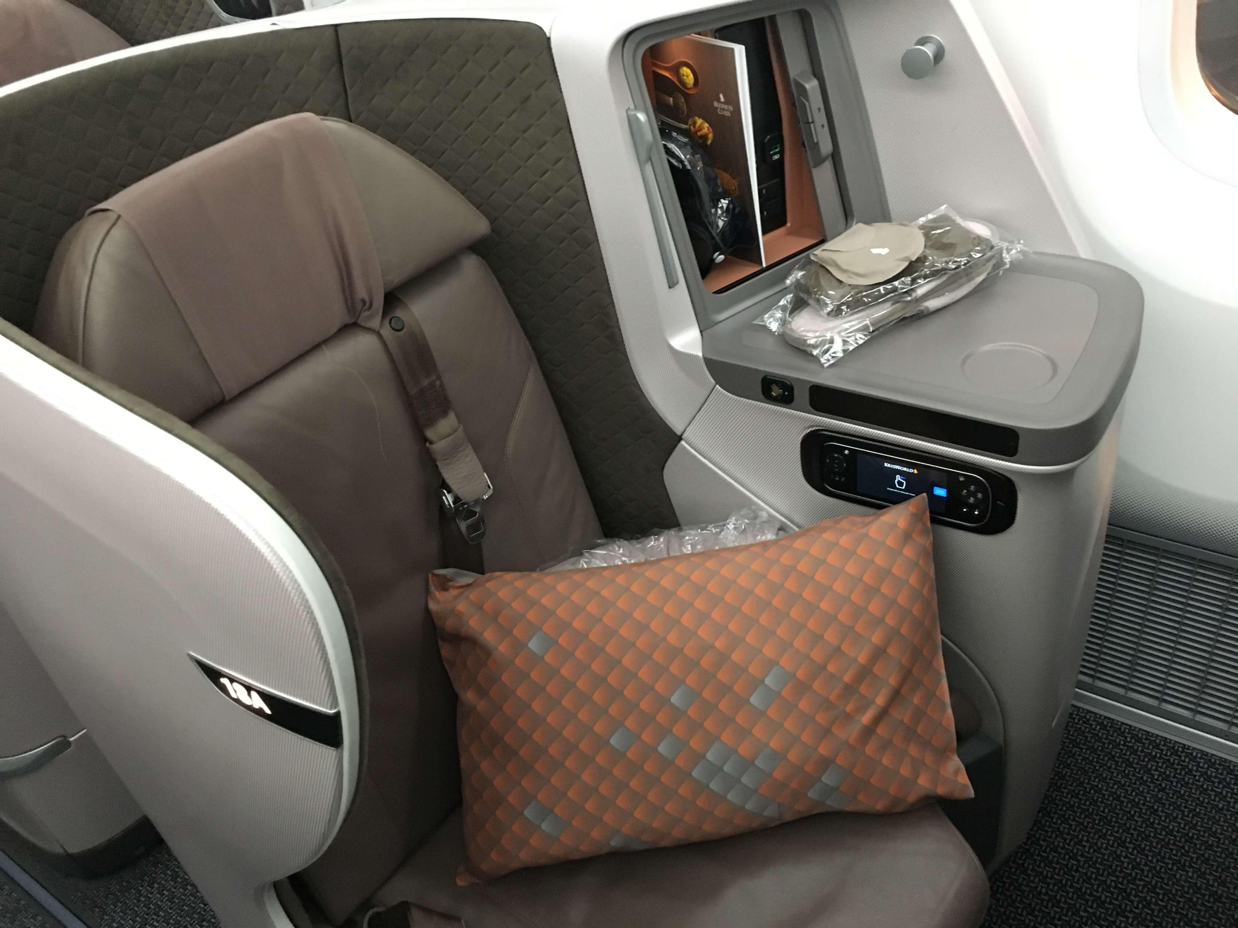 Business Class Review : シンガポール航空(SQ) SQ638 シンガポール(SIN) – 成田(NRT) Boeing B787-10