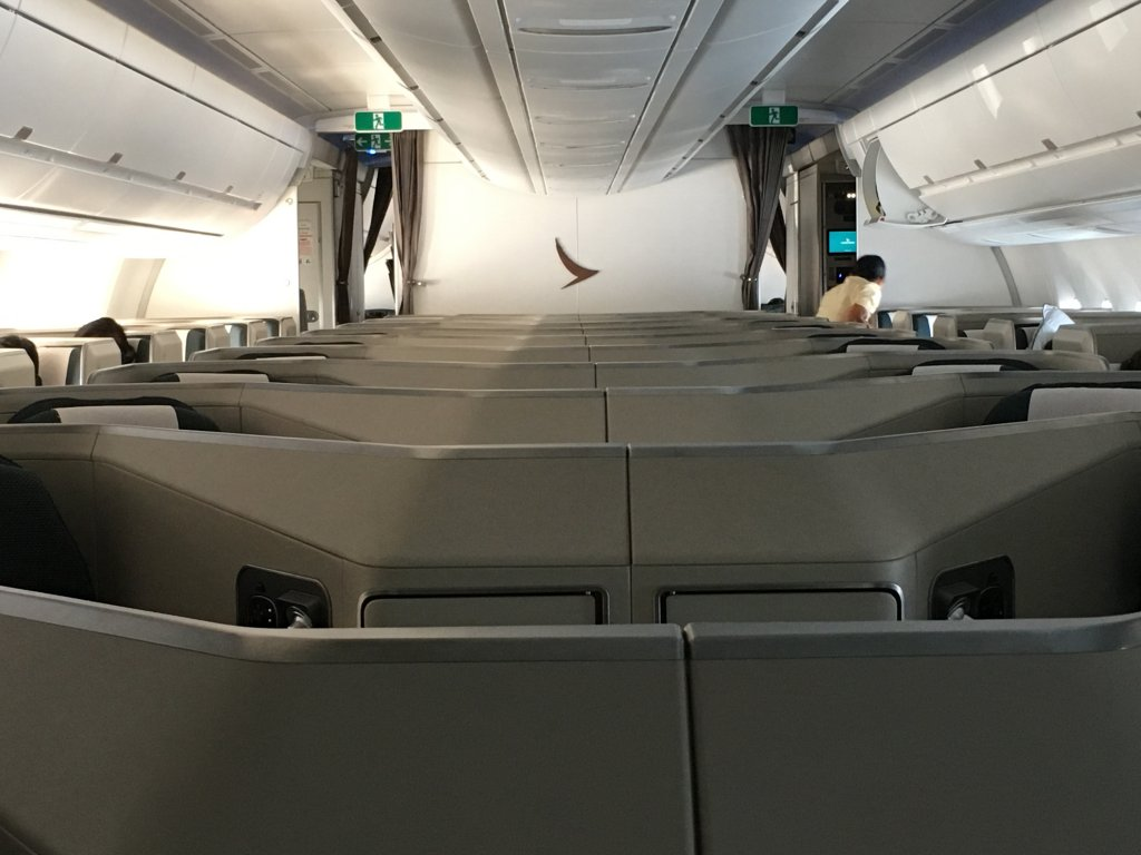 Business Class Review : キャセイパシフィック航空(CX) CX418  香港(HKG) – ソウル仁川(ICN) Airbus A350-1000