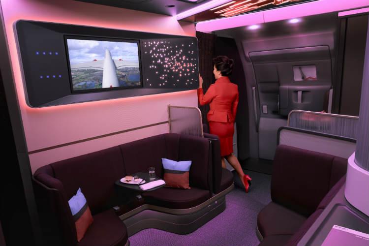 ヴァージン・アトランティック航空(VS)の新しい機材「エアバス A350-1000」