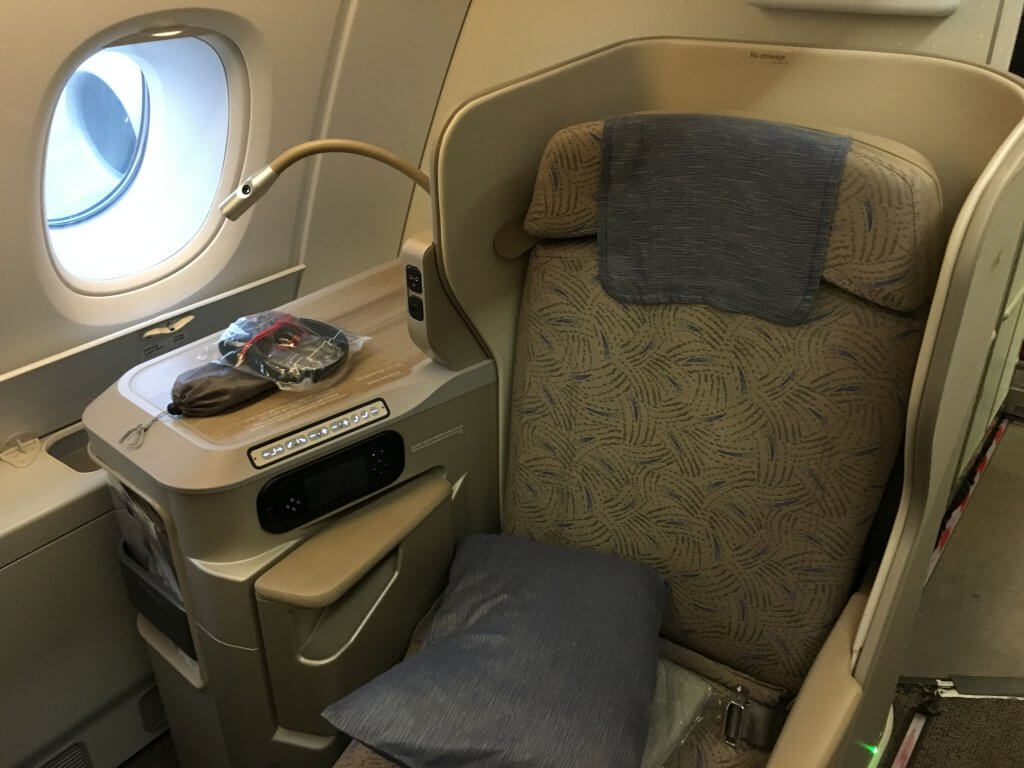 Business Class Review : アシアナ航空(OZ) OZ745  ソウル仁川(ICN) – 香港(HKG) Airbus A380-800