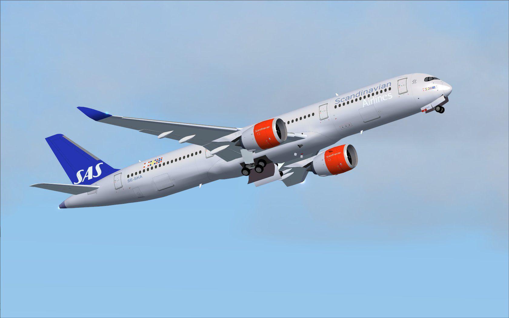 スカンジナビア航空(SK)の新しいエアバス A350路線