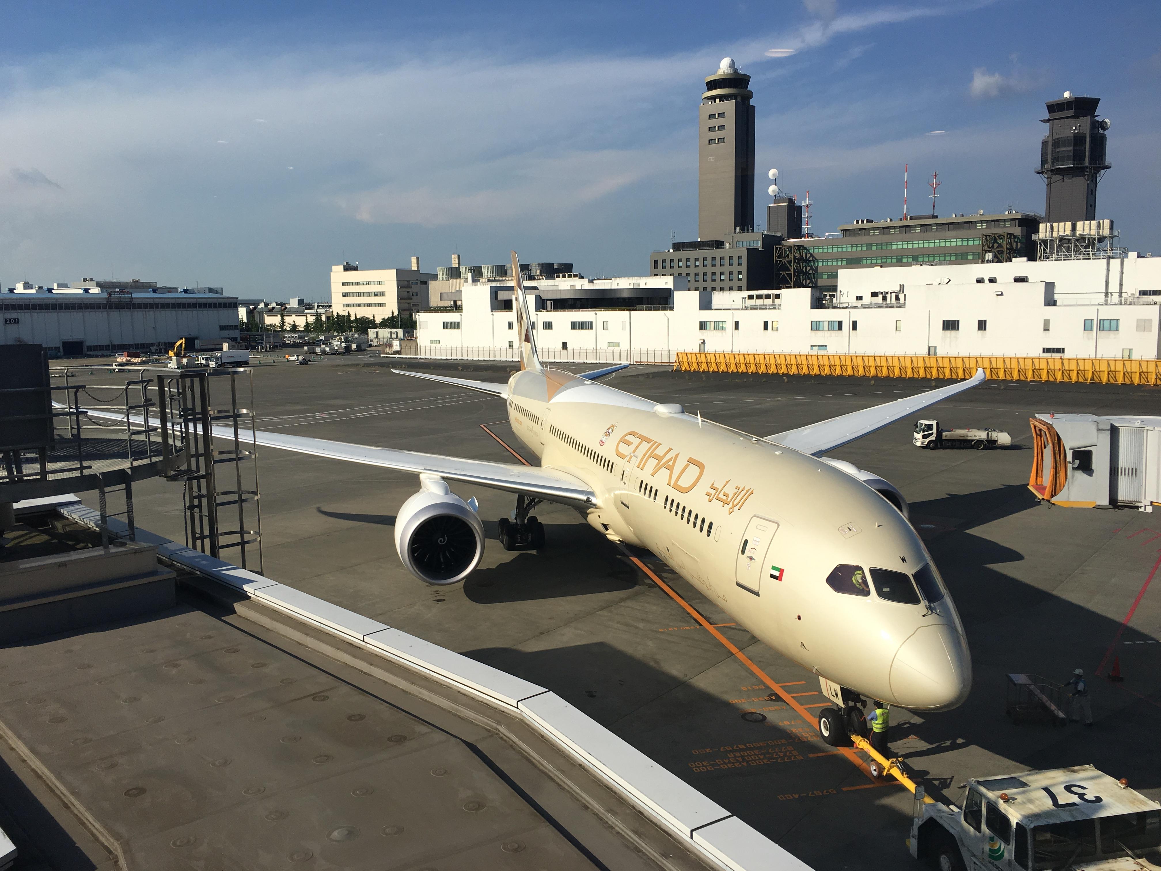 Business Class Review : エティハド航空(EY) EY871 成田(NRT) – アブダビ(AUH) ボーイング B787-9 ドリームライナー