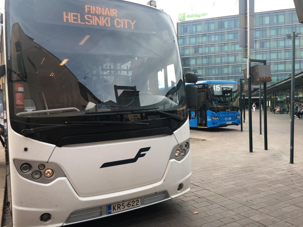 ヘルシンキ・ヴァンター空港(HEL)から市内へフィンエアーシティバスを利用して移動する方法