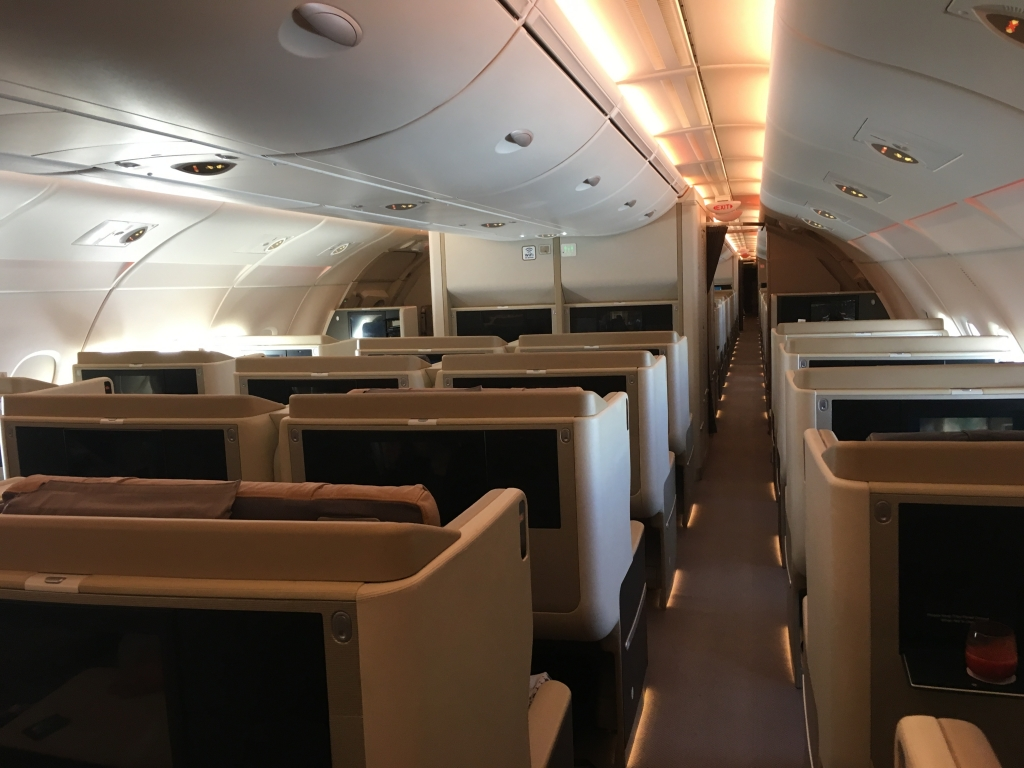 Business Class Review : シンガポール航空(SQ) SQ637 成田(NRT) – シンガポール(SIN) Airbus A380