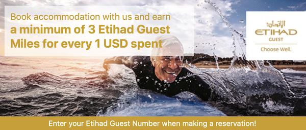 Booking.comからのホテル予約でエティハド航空(EY)のマイレージが獲得可能に