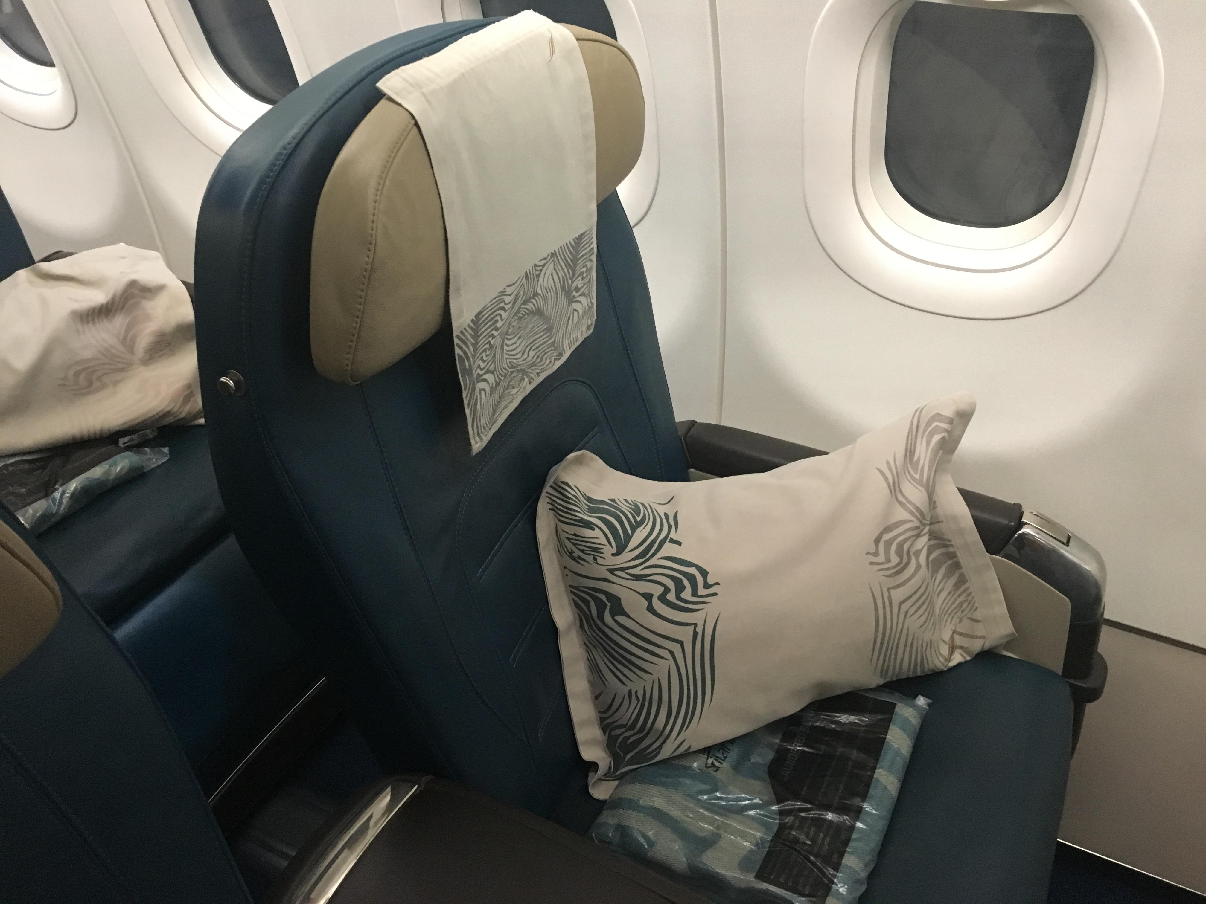 Business Class Review : スリランカ航空(UL) UL208 アブダビ(AUH) – コロンボ(CMB)