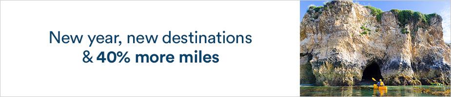 アラスカ航空(AS)のマイレージ最大40%ボーナスセール(2020/2/16まで)