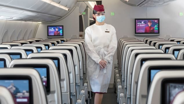 カタール航空(QR)搭乗でフェイスシールドが必要になります