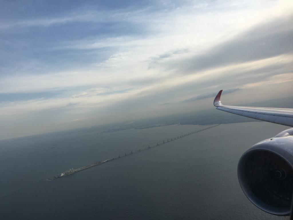 日本航空(JL) JL302(福岡(FUK) – 羽田(HND)) 国内線ファーストクラス エアバス A350のWiFiスピードチェック