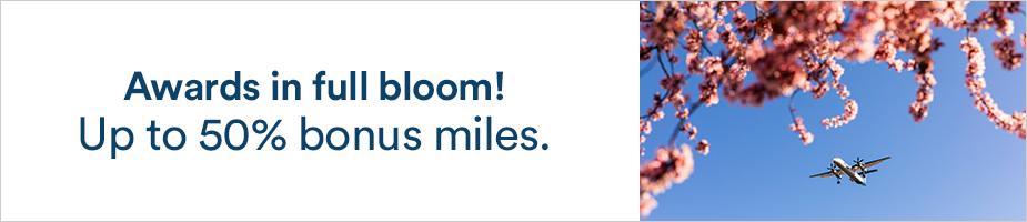 アラスカ航空(AS)のマイレージ最大50%ボーナスセール(2021/3/14まで)