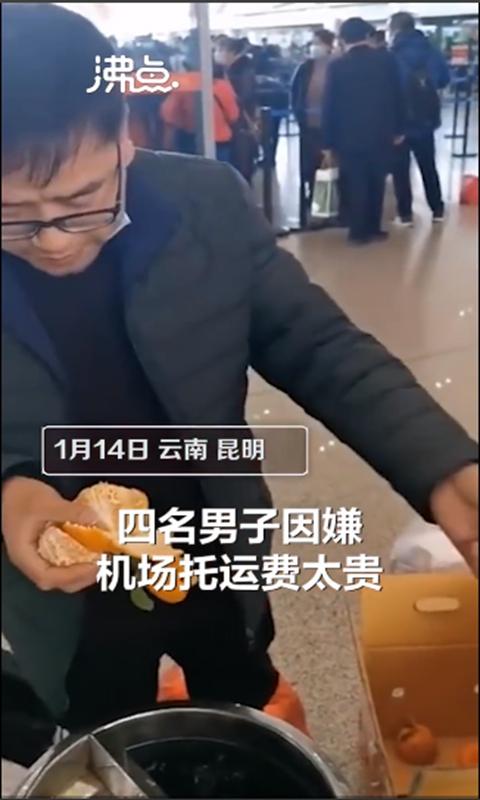 大量のオレンジを食べる搭乗客。その理由は