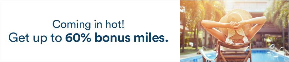 アラスカ航空(AS)のマイレージ最大60%ボーナスセール(2021/8/23まで)