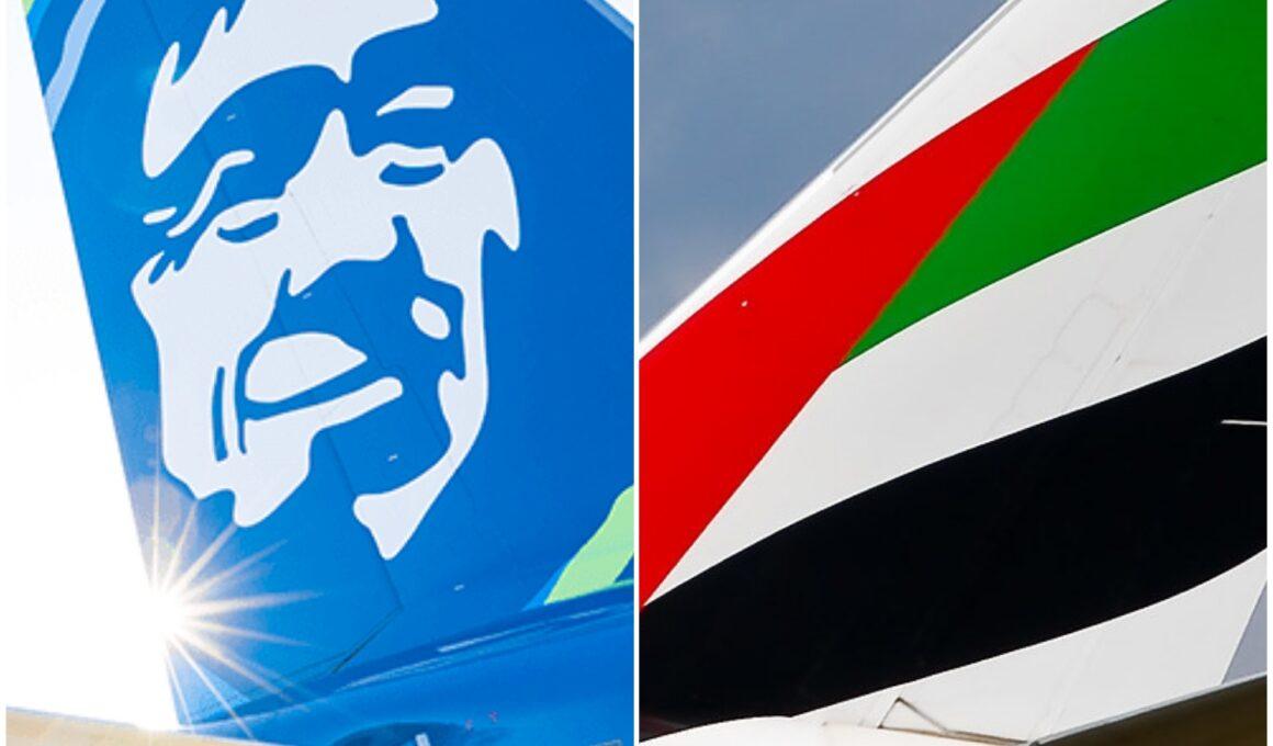 アラスカ航空(AS)とエミレーツ航空(EK)がマイレージ提携を解消へ