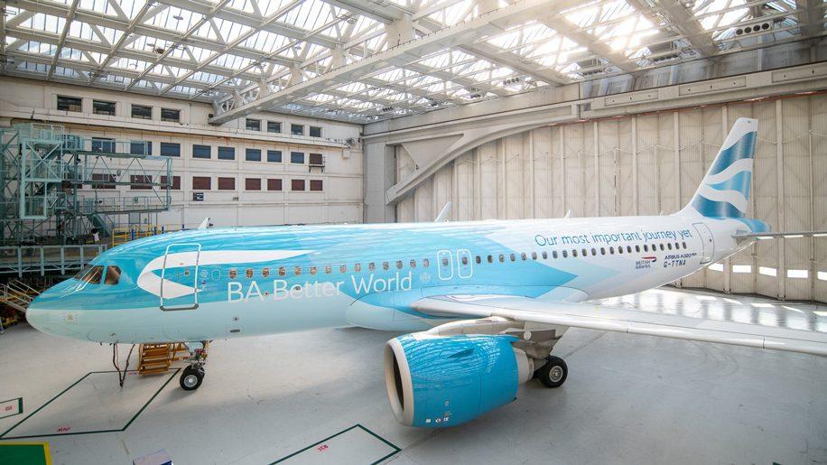 ブリティッシュ・エアウェイズ(BA)も持続可能な燃料に注目。特別塗装機も登場